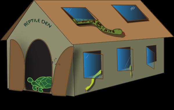 Reptile den escape
